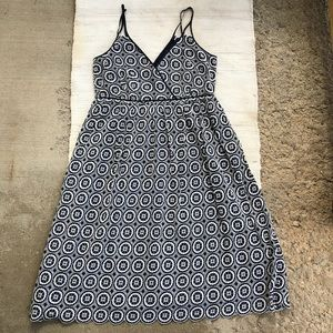 NWOT J. Crew navy fit flair embroidered dress